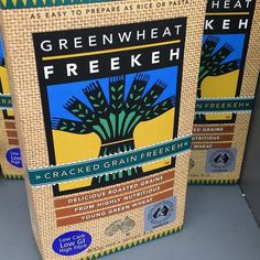 Here's what you look for when you wanted by buy freekeh. I like that it's an Aussie product grown in WA. Wholegrain substitute for rice  or potato and it's low GI. @carolinehind6