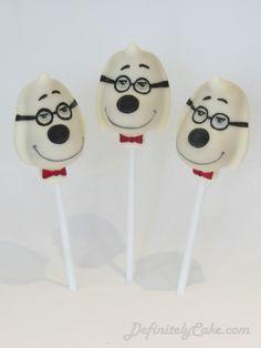 Mr Peabody Cake Pops from the film Mr Peabody and Sherman
