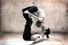 Couple yoga is creepy but this is kinda cute. ....  kinda