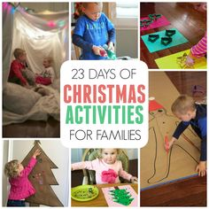 23 Days of Christmas Activities for Families- Fun to keep you busy all December long!