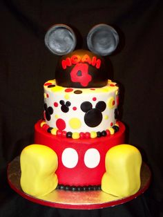 cakes by kristen h mickey mouse cake cakes by kristen h pink bows and dots baby shower cake 1200x1600