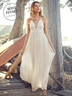 "Glam without even trying—this beach dress nails that whole ""grecian goddess"" thing. 