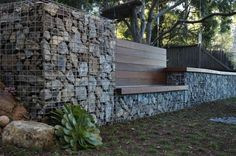 Recycled concrete wall
