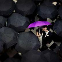 casamento guarda-chuva colorido 2