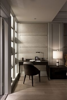 Wall panels - Modern classic interior Taiwan (workplace) Неоклассический интерьер в Тайване (рабочее место)
