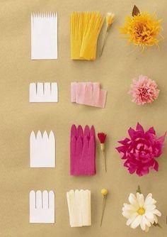 Различные цветы из гофробумаги. Обсуждение на LiveInternet - Российский Сервис Онлайн-Дневников