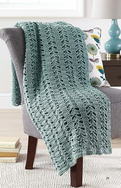 Make in a Weekend Afghans to Crochet - Want to crochet cozy wraps for the family but don't have a lot of time? It's fast and easy with the 10 simple designs in Make in a Weekend – Afghans to Crochet from Leisure Arts. Choose from baby wraps, lap throws, and jumbo afghans. Designs by Mary Ann Frits for The Creative Partners LLC include Sweet Shells, Clouds, Island Dreams, Rainy Day Ripple, Heather Shells, Clusters Aplenty, Snowdrops for Baby, Springtime, Blue Delight Baby Afghan, and Just… Baby Afghans, Crochet Afghans, Crochet Blankets, Baby Blankets, Crochet Classes, Crochet Projects, Easy Crochet Patterns, Loom Patterns, Crochet Ideas