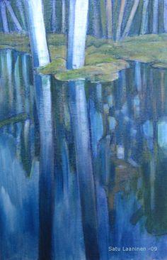 Acrylic on canvas Satu Laaninen My Works, Paintings, Canvas, Art, Tela, Art Background, Paint, Painting Art, Kunst