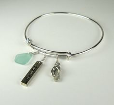 Eco Friendly Sea Glass Jewelry Silver by BoardwalkBaubles on Etsy, $30.00
