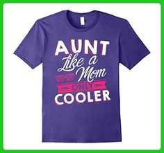Mens Funny Aunt Like a Mom only Cooler T-shirt XL Purple - Relatives and family shirts (*Amazon Partner-Link)