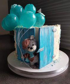 Pretty Birthday Cakes, Baby Birthday Cakes, Baby Boy Cakes, Cakes For Boys, Baby Shower Cakes, Creative Cake Decorating, Cake Decorating Techniques, Baby Bugs Bunny, New Cake Design