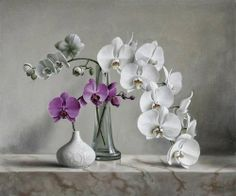Purple Orchid DIY Needlework Diamond Embroidery Painting Home Decor Diamond Mosaic Pattern Full Square Diamond Painting Art Floral, Still Life Photos, Still Life Art, White Flowers, Beautiful Flowers, Beautiful Life, White Orchids, Foto Transfer, Gifts For An Artist
