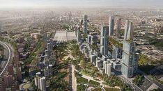Los próximos desarrollos urbanísticos en la ciudad de Madrid Elle Decor, The Expanse, New York Skyline, City Photo, House Plans, Vineyard, Travel, Outdoor, 3d