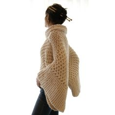 Coziness / Misti Brioche Honeycomb Sweater by karenclements on Etsy ❤ liked on Polyvore