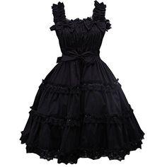 Partiss Women's Black Ruffle Sweet Love Lolita Dress XXL Black Partiss http://www.amazon.com/dp/B01DENSMF4/ref=cm_sw_r_pi_dp_aYD.wb0EGZTKA