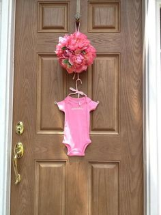 cute door display for baby shower