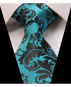 Black & Turquoise Aqua Green Blue Mens Tie Wedding Silk Floral Paisley 610 for sale online Aqua Wedding, Wedding Ties, Dream Wedding, Wedding Stuff, Paisley Wedding, Wedding Crafts, Wedding Groom, Wedding Hair, Bridal Hair