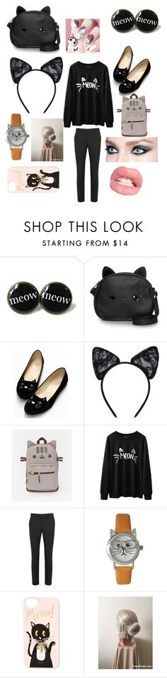 """Cat lover"" by missprincessbea ❤ liked on Polyvore featuring Loungefly, Maison Close, RED Valentino, Olivia Pratt and Rifle Paper Co"
