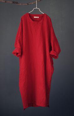 Johnature Embroidery Maxi Dress Women Loose Cotton Linen Dress O-Neck Long Sleeve Vintage 2016 Autumn Maxi Dress Robes Fashion Women's Dresses, Cheap Dresses, Cotton Dresses, Vintage Dresses, Vintage Outfits, Long Dresses, Mode Kimono, Plus Size Robes, Summer Dresses For Women