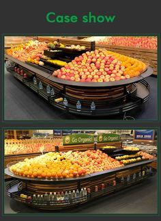 fruit and vegetable display cooler supermarket vegetable and fruit display shelf supermarket fruit stand rack Vegetable Rack, Vegetable Stand, Retail Solutions, Fruit Stands, Fruit Displays, Display Shelves, Fruits And Vegetables, Ideas, Fruits And Veggies