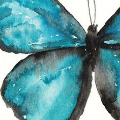 HIGH QUALITY GICLEE PRINT Blue Butterfly Painting Made from my original watercolor painting of a Blue Morpho Butterfly PAPER: 400gsm Textured Watercolor Paper. This paper is an archival, Ph-neutral, and OBA-free paper, made by Strathmore. SIZE: 8x10inches -No frame included.