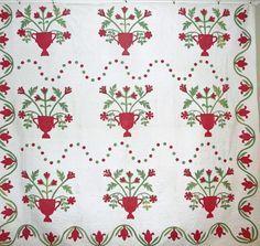 applique quilts 1800s -