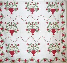 applique quilts 1800s -