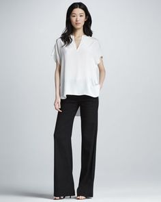 Wide-Leg Pants by Vince at Bergdorf Goodman.
