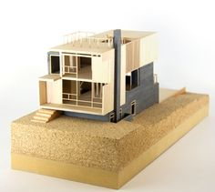 Image 9 of 13 from gallery of Wrap House / Marc Boutin. Architecture Model Making, Wooden Architecture, Architecture Design, Composition Art, Scale Art, Arch Model, Taking Shape, Model Homes, Design Firms