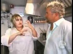 Chef/Owner Heather Haviland sports Chefwear during Lucky's Cafe episode of Triple D on the Food Network