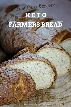 The best Keto Bread in the whole world, which not only looks real but also tastes and smells like a real loaf of bread. The Number 1 Keto Bread has been born. Farmers Bread Recipe, Easy Low Carb Bread Recipe, Bread Recipe Video, Best Keto Bread, Lowest Carb Bread Recipe, Low Carb Recipes, Pain Keto, Rustic Bread, Keto Diet Plan