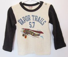 Fall is a time for layering and warmer fabrics. This tee features a double layered woven cotton for a warm feel. Contrasting colored sleeves and collar are signatures of this funky Japanese based label. Vintage airplane graphic on the front and lettering on the back take this long sleeve tee from basic unique in one fell swoop. $27 via http://sophiblu.com