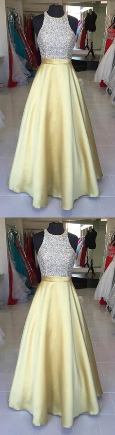 Long Prom Dresses, Yellow Prom Dresses, Silver Prom Dresses, Prom Dresses Long, Beaded Prom Dresses, Prom Long Dresses, Prom dresses Sale, Floor Length Dresses, Sleeveless Prom Dresses, Beaded/Beading Prom Dresses, Floor-length Prom Dresses