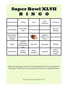Super Bowl Bingo 2013 - fun way to watch the game!