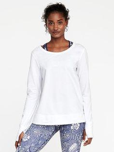 Go-Dry Lattice-Back Sweatshirt for Women