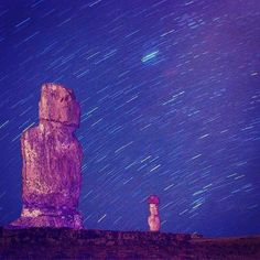 @chanan.weiss got this star trail on Easter Island.