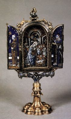 Reliquary of the Cross 1490s Gilded silver, enamel, height 16,5 cm Museo Poldi Pezzoli, Milan