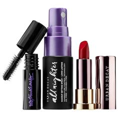 fe01a9ff8a0 This set contains: All Nighter Setting Spray trial size oz/ 15 mL), Vice  Lipstick trial size in Bad Blood oz/ 1 g), Troublemaker Mascara trial size  oz/ g).