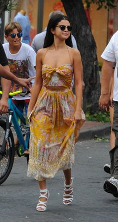Selena Gomez Charms Italy in Her Zimmermann Sundress!