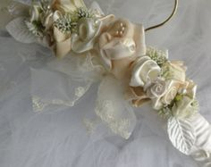 Wedding gown hanger. by ChurchMouseWeddings on Etsy
