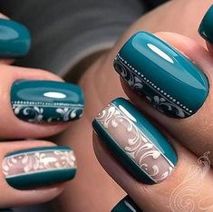 Discover new and inspirational nail art for your short nail designs. Fancy Nails, Red Nails, Pretty Nails, Hair And Nails, Acrylic Nail Designs, Nail Art Designs, Acrylic Nails, Gel Nagel Design, Gel Nails At Home