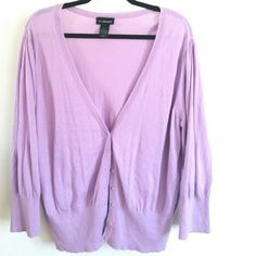 Lane Bryant Light Purple Lightweight Cardi 22/24 This Lane Bryant Light Purple Lightweight Cardi is a plus size 22/24 in good used condition. Soft 100% cotton body for a lightweight, breathable sweater. Bust measures 25 inches across laying flat, unstretched, so 50 inches around. 27 inches long. ::: Bundle 3+ items from my closet and save 30% off when you use the app's Bundle feature! ::: No trades. Lane Bryant Sweaters Cardigans