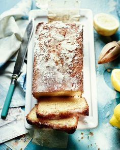 A good splash of Italian limoncello liqueur adds a boozy note to this cocktail-inspired drizzle cake ‰ÛÒ perfect for an adults only afternoon treat. Baking Recipes, Cake Recipes, Dessert Recipes, Lemon Recipes, Delicious Magazine Recipes, Salted Caramel Fudge, Salted Caramels, Baking Powder Uses, Lemon Drizzle Cake