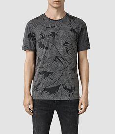 Mens Window Pane Crew T-Shirt (Vintage Black) - product_image_alt_text_1