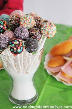 Cocinando entre Olivos: Cake pops de galletas Oreo y chocolate. Receta pas...