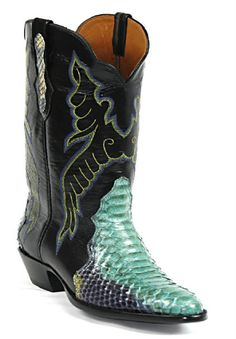 Snake/Snakeskin Triad Boots Style 604 Custom-Made by Black Jack Boots