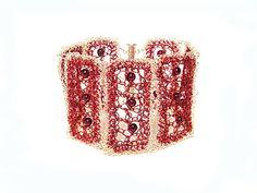 Oxblood bracelet Garnet bracelet dark red Cherry by FestiJe, $109.00