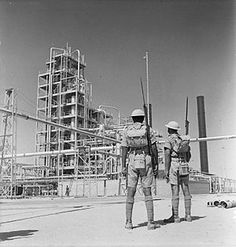 Indian troops guarding the Abadan Refinery in Iran, 4 September 1941