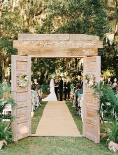 Coming soon to River Road Chateau…a Rustic door entrance with hand carved pillars! DFW Weddings.
