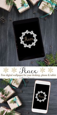 Peace Holiday Digital Wallpaper is a beautiful way to bring the holiday spirit to digital devices. FREE download for desktop, phone & tablet via Kleinworth & Co.